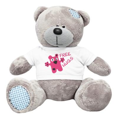 Плюшевый мишка Тедди Free hugs