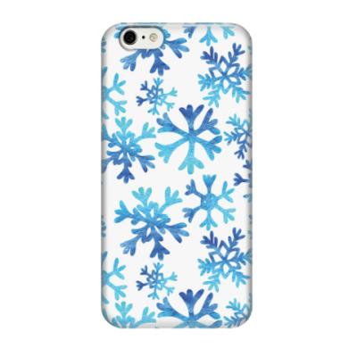 Чехол для iPhone 6/6s Фактурные снежинки