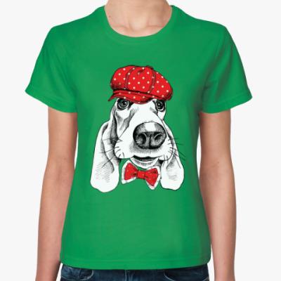 Женская футболка Бассет-хаунд