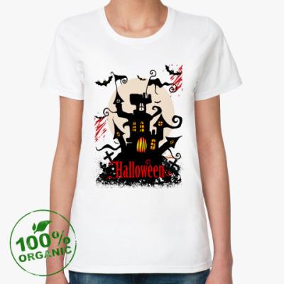 Женская футболка из органик-хлопка Хэллоуин