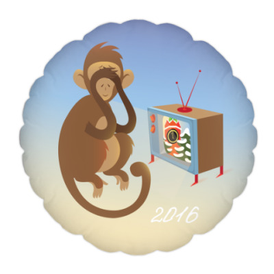 Обезьянка 'Доброго Нового 2016 года'