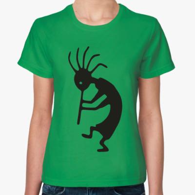 Женская футболка Туземец с трубкой