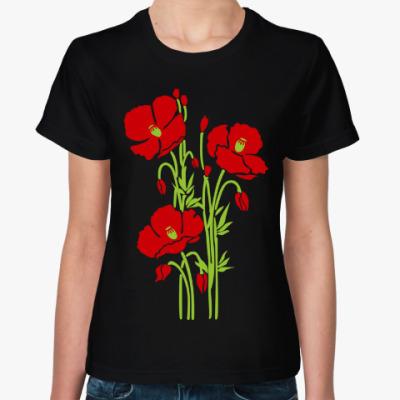Женская футболка Маки