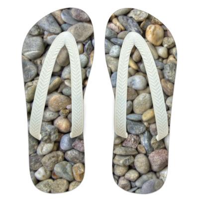 Шлепанцы (сланцы) Пляжные камни