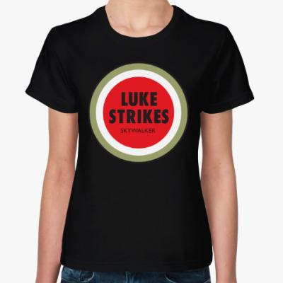 Женская футболка Luke Strikes