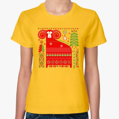 Женская футболка Баран