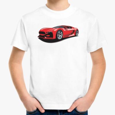 Детская футболка Красивый спортивный автомобиль