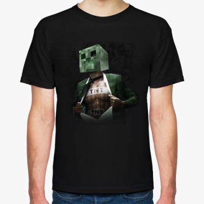Футболка Minecraft creeper