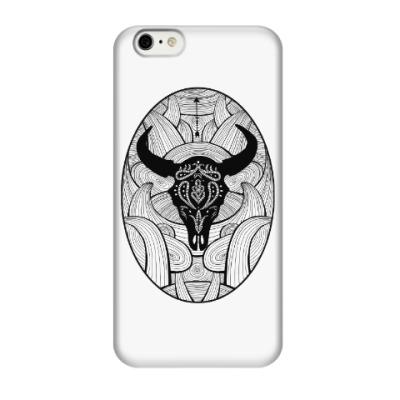Чехол для iPhone 6/6s Мексиканский череп быка
