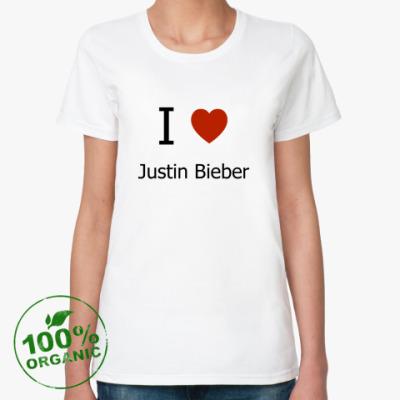 Женская футболка из органик-хлопка I Love JB