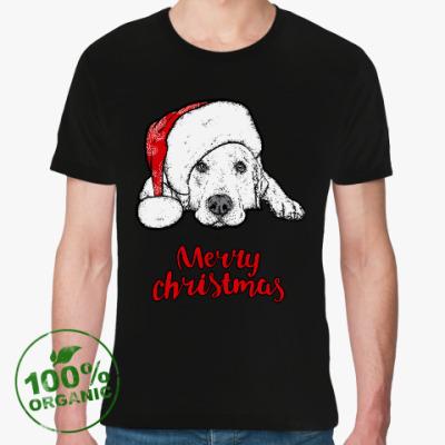 Футболка из органик-хлопка Собака Санта