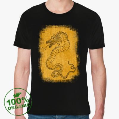 Футболка из органик-хлопка Золотой змей