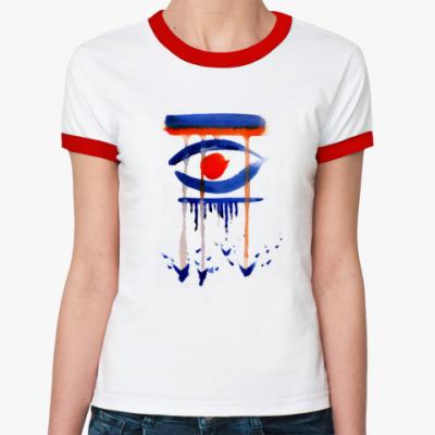 Женская футболка Ringer-T Глаз. Дождь