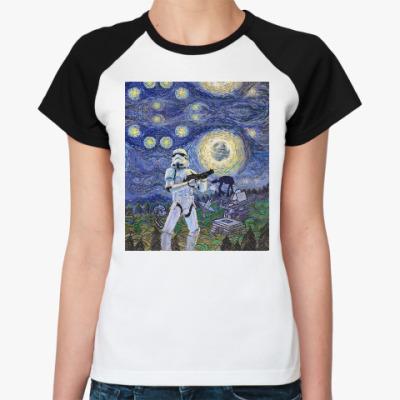 Женская футболка реглан Star Wars Starry Night