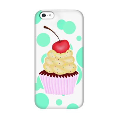 Чехол для iPhone 5c Капкейк