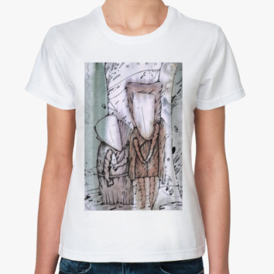"Классическая футболка Жен.футболка ""Шкафный ангел"""