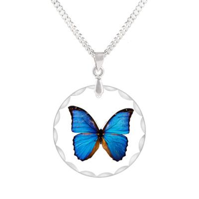 Кулон Лазурная бабочка