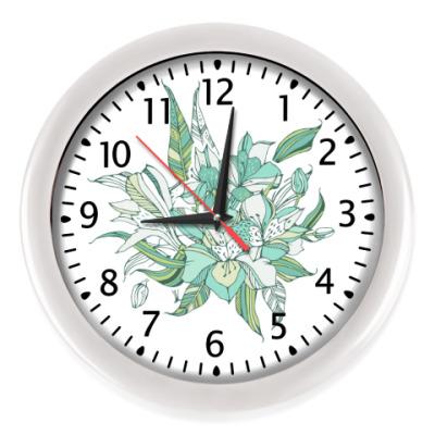 Настенные часы Букет лилий
