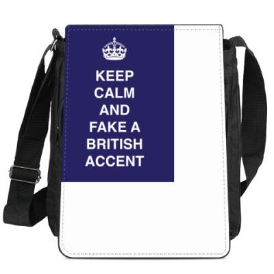 Сумка-планшет Keep calm and fake a british