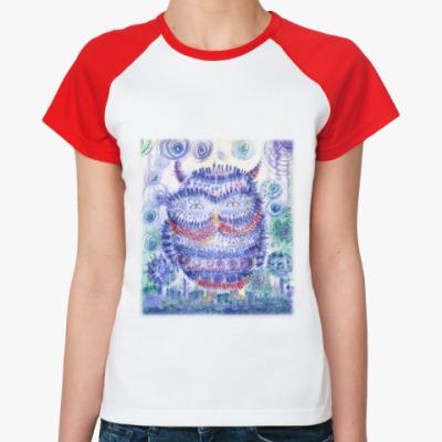 Женская футболка реглан Сова