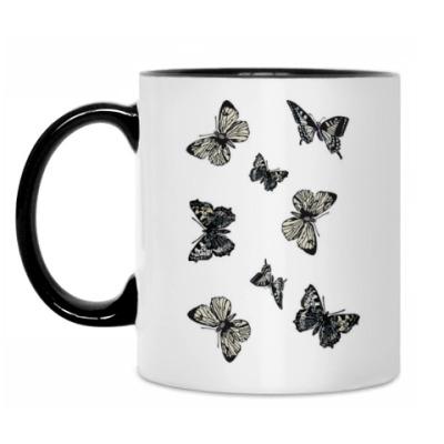 Кружка 'Стайка бабочек'