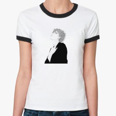 Женская футболка Ringer-T Манга-мальчик