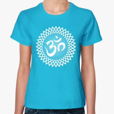 Женская футболка Ом