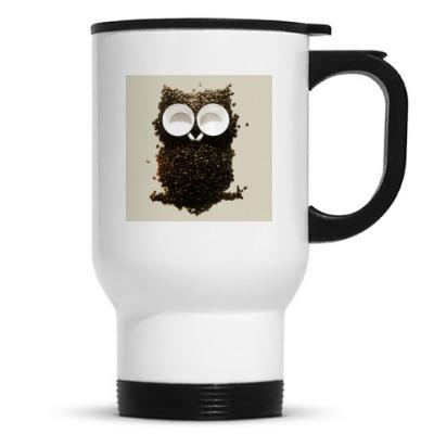 Термос кофейная сова