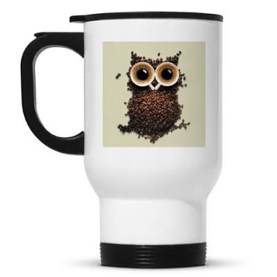 Кружка-термос Термос кофейная сова