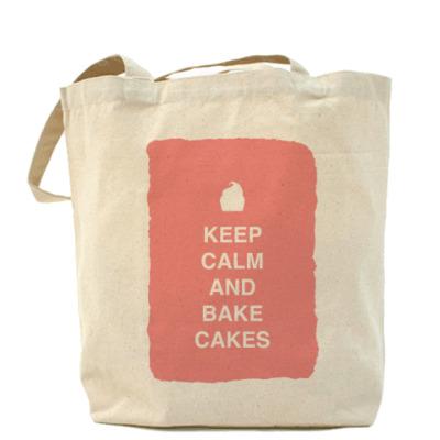 Сумка Keep calm and bake cakes