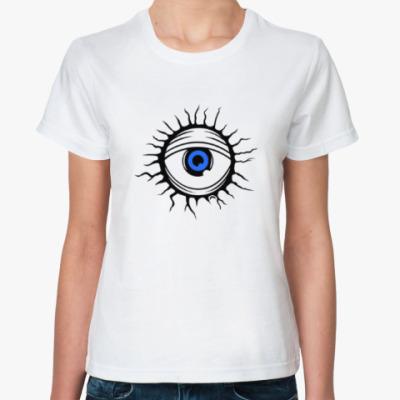 Классическая футболка Демонический глаз.