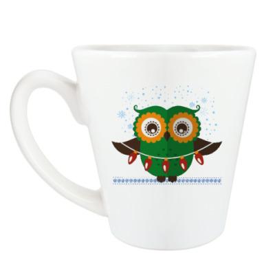Чашка Латте Зимняя сова