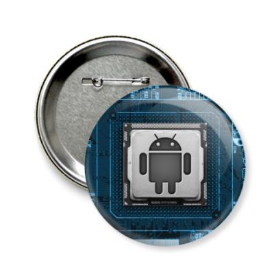 Значок 58мм Андроид