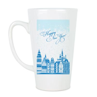 Чашка Латте С Новым годом