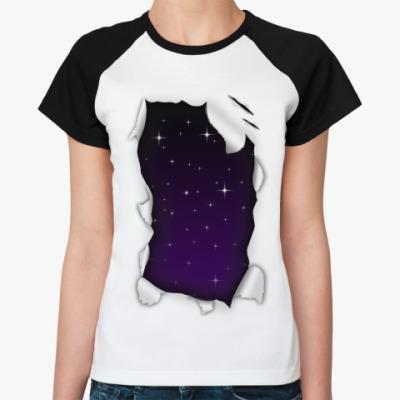 Женская футболка реглан 'Звёзды'