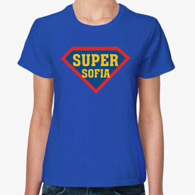 Женская футболка Супер София (sofia)