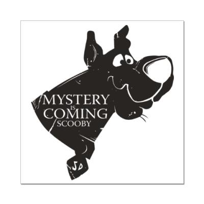 Наклейка (стикер) Mystery is coming