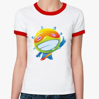 Женская футболка Ringer-T Позитив