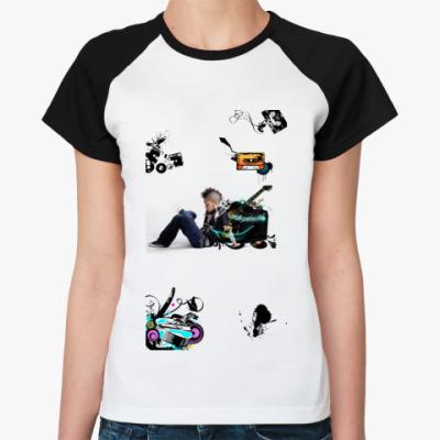 Женская футболка реглан музыка