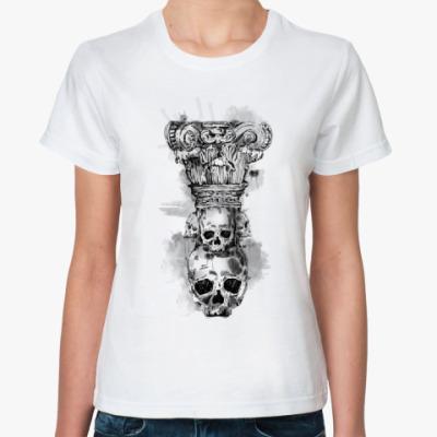 Классическая футболка Череп-колонна