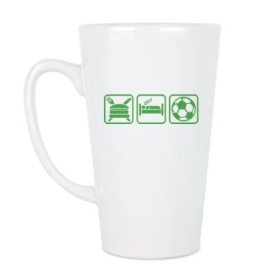 Чашка Латте Еда Сон Футбол
