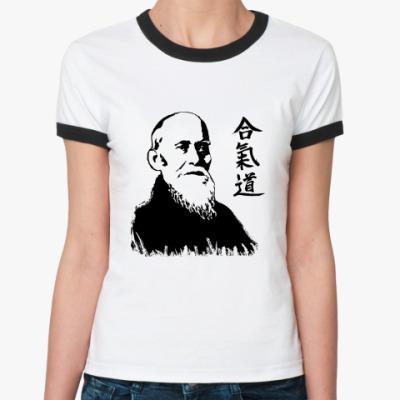Женская футболка Ringer-T Сенсей