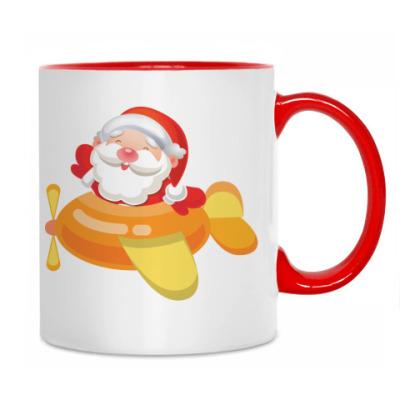 Кружка Дед Мороз к нам мчится