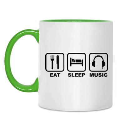Кружка Eat Sleep Music