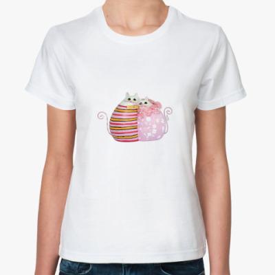 Классическая футболка  Cat`s love
