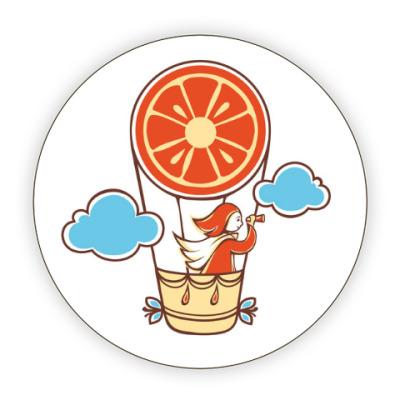 Костер (подставка под кружку) Апельсинка