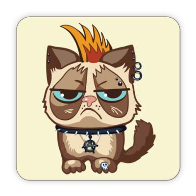 Костер (подставка под кружку) Кот Тард (Grumpy Cat) неформал