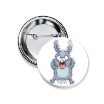 Значок 37мм   Кролик