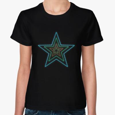 Женская футболка Неоновая звезда