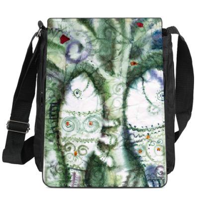 Сумка-планшет  Рыбы и дерево